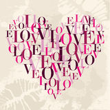 Valentine love text heart Royalty Free Stock Images