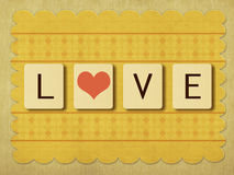 Valentine love tiles Stock Photography