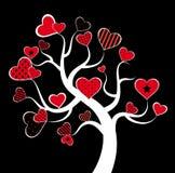 Valentine love tree. Royalty Free Stock Photography