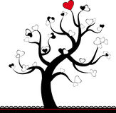 Valentine love tree leaf Stock Photos