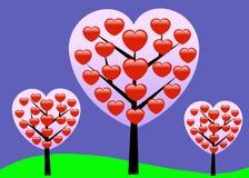 Valentine Love Tree - Vector Stock Foto's