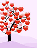 Valentine Love Tree - Vector. Valentine Love Tree is a  illustration Stock Images