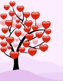 Valentine Love Tree - Vektor Stockbilder