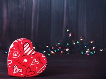 Free Valentine. Love. Valentine`s Day Postcard. Love Concept For Mother`s Day And Valentine`s Day. Happy Valentine`s Day Hearts On Wood Stock Images - 107724154