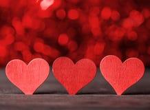 Free Valentine. Love. Valentine`s Day Postcard. Love Concept For Mother`s Day And Valentine`s Day. Happy Valentine`s Day Hearts On Wood Stock Photo - 107724170