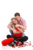 Valentine love, young adults Stock Images