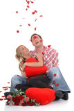 Valentine love, young adults Stock Image