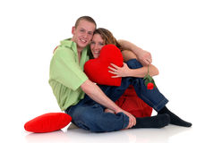 Valentine love, young adults Royalty Free Stock Photos
