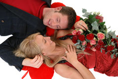 Valentine love, young adults Stock Photos