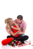 Valentine love, young adults Royalty Free Stock Photography