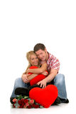 Valentine love, young adults Royalty Free Stock Image