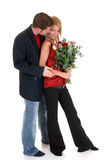 Valentine love, young adults Royalty Free Stock Images
