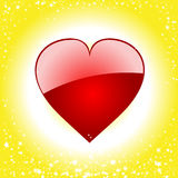 Valentine loveheart starburst background Royalty Free Stock Photography