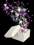 Valentine magic box Royalty Free Stock Photos