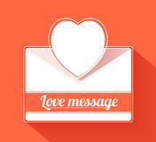 Valentine mail message with heart. This is file of EPS10 format Stock Photos