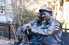 Valentine, Main Street, Smithfield, VA. Bronze statue of couple Valentine in Main Street, Smithfield, VA, USA. Produced by sculptor George Lundeen Royalty Free Stock Image