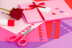 Valentine making Royalty Free Stock Images