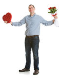 Valentine: Man Confident About Valentines Day Royalty Free Stock Images