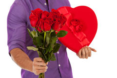 Valentine: Man With Holiday Gifts For Girlfriend Stock Photo