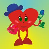 Valentine man with rose Stock Images