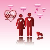 Valentine man and woman Royalty Free Stock Image