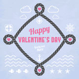 Valentine in marine style Royalty Free Stock Images