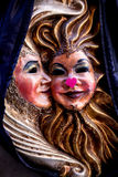 Valentine masks couple Stock Photos