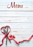 Valentine-menuachtergrond Royalty-vrije Stock Foto's