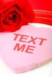 Valentine \ 'message de jour de s - texte je ! Image libre de droits