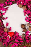 Valentine message still life Stock Images