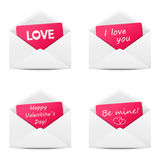 Valentine messages Royalty Free Stock Photo