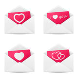 Valentine messages Royalty Free Stock Images