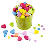Valentine Metallic bucket filled heads factors. Stock Images