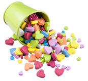 Valentine Metallic bucket filled heads factors. Stock Photography