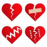 4 valentine miłości serca inkasowego royalty ilustracja