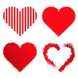 4 valentine mi?o?ci serca inkasowego royalty ilustracja
