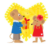 Valentine Mice Stock Image