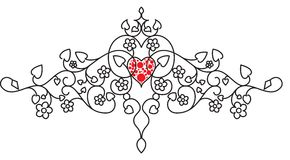 Valentine motif Royalty Free Stock Images