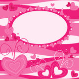 Valentine motives greeting card Royalty Free Stock Photography