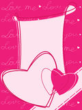 Valentine motives greeting card Royalty Free Stock Image