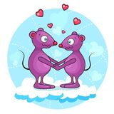 Valentine mouse Stock Photography