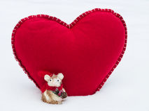 Valentine Mouse Royalty Free Stock Photography