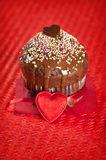Valentine muffin Royalty Free Stock Photography