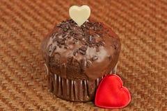 Valentine muffin Stock Image