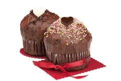 Valentine muffins Royalty Free Stock Image