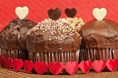 Valentine muffins Royalty Free Stock Photo