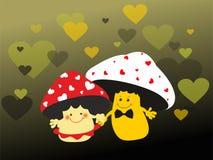 Mushrooms lovers Stock Photos