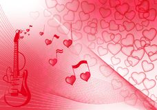 Valentine music Stock Images