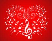 Valentine music theme stock illustration