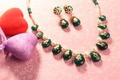 Valentine Necklace Stock Photos